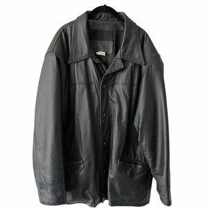 Vintage Leather Ranch Black Leather Jacket Large